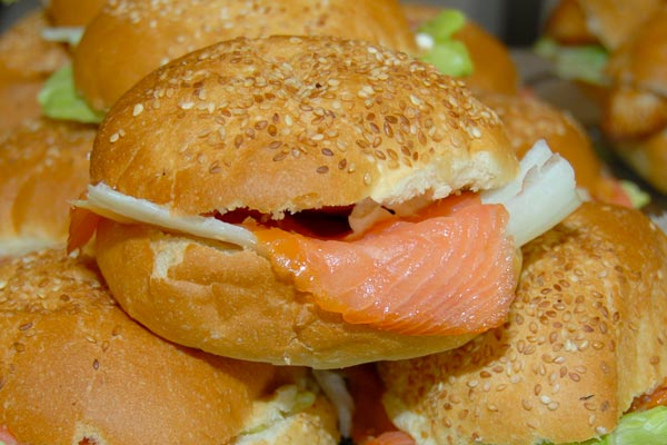 Homemade salmon sandwiches